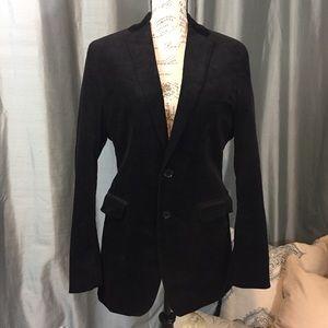 Banana Republic black corduroy blazer tailored fit